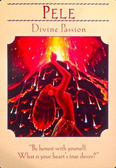 goddess pele - oracle card