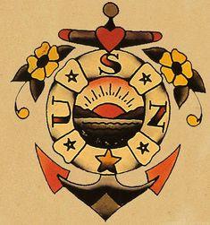 Navy Anchor tattoo flash: Tattoo Ideas Tattoo Flash Tattoo'S Tattoo ...