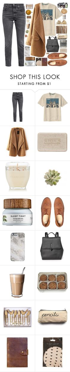 """Без названия #202"" by sinyukovayulya ❤ liked on Polyvore featuring Levi's, Retrò, WithChic, Kiehl's, Matter and Home, French Girl, Farmacy, ASOS, Karen Walker and FREDS at Barneys New York"