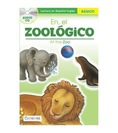 Pbs Publishing Spanish-English Book With CD-At The Zoo