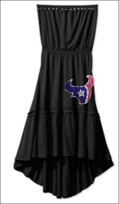a3ad63166 Houston Texans Rhinestone Black knit Sundress by PoshBlingBoutique