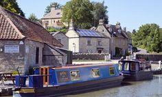 Kennet and Avon Canal going through Bradford on Avon, Wiltshire