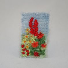 Cottage Garden Brooch  Felted and Embroidered by Lynwoodcrafts, £9.00