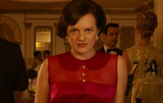 """Elisabeth Moss discusses Peggy Olson's role on """"Mad Men"""" Season 6, what Peggy learned from Don Draper and whether or not she feels secure in her job."""