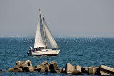 Inaugurare ponton in statiunea Mamaia / Opening pontoon Mamaia / Öffnen Ponton Mamaia / L'ouverture ponton Mamaia, barca cu panze