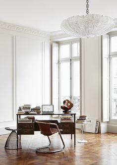 appartamento romantico a Parigi   l'home office, ampio e luminoso