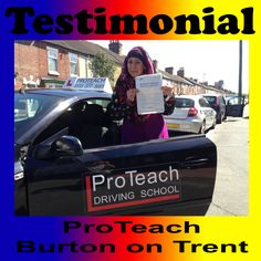 """""""Want to say a big thank you to Matt from Proteach for helping me pass my driving test, for giving me confidence and showing me support throughout my lessons. Would recommend proteach to anyone who wants to learn quickly and have fun at the same time. Really enjoyed all my lessons thank you once again""""  Amera Latif Driving Lessons Burton on Trent www.proteachdrivinglessons.co.uk"""