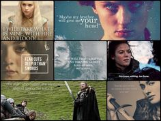 Let's remember what they said. Quotes from some of the characters on Game of Thrones.