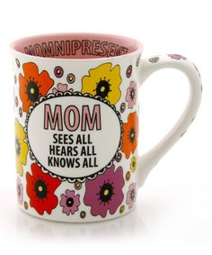 Look what I found on #zulily! 'Mom Sees All' Mug #zulilyfinds