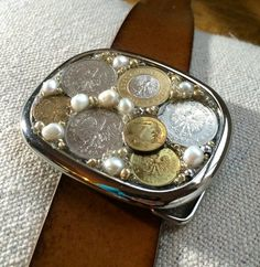 Polish Zloty Gold & Silver Coin Belt Buckle by What The Buckle on etsy.com