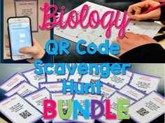 Need a way to get students ENGAGED during the end of the year review?  These QR code scavenger hunts are student approved and teacher loved as a way for students to review important Biology concepts!