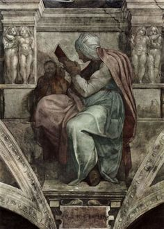Michelangelo Buonarroti Poster - Ceiling Fresco For The Creation Story - The Persian Si