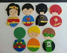 Justice  league  cupcake  toppers