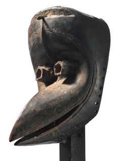 Dan Bird Mask, Ivory Coast or Liberia on a base by the Japanese wood artist Kichizô Inagaki Paris. Height: 7 in cm) Liberia, African Masks, African Art, Art Tribal, Bird Masks, Art Premier, Art Africain, Masks Art, Ivory Coast