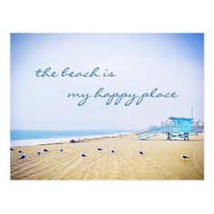 #photo - #Happy place quote aqua sky beach photo postcard