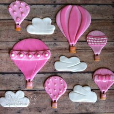 EDIBLE Fondant Cake Topper Set  Hot Air Balloon by PartyNV on Etsy, $60.00