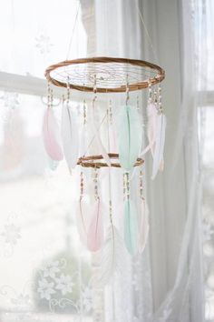 One of our favourite items ♥ This #dreamcatcher created by #hippiebyviki comes in the softest pastel tones