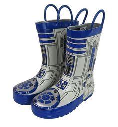 Kids Star Wars R2D2 Rain Boots - These look just like the spunky robot droid's body. Perfect for a boy or girl who loves the outer space sci-fi movies. Disclosure: This is an affiliate link.