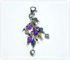 Sparkly Keychain/keyring or bag/purse Charm