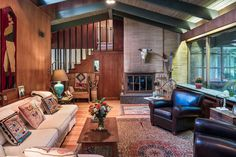 Midcentury modern home hides on the Main Line, asks $595K - Curbed Phillyclockmenumore-arrow : Designed by Charles Frederick Wise with Nakashima touches