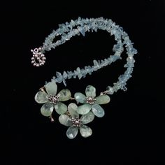 Haute Couture Aquamarine Necklace / Aquamarine/ by angelovajewelry