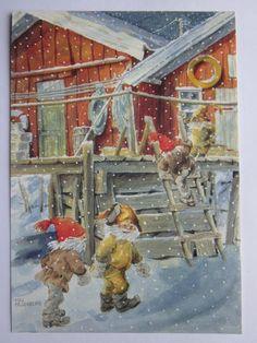 Maj Fagerberg - Till mötes på Tradera.com - Signerade vykort och bilder