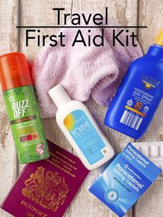 Accidents and illness happen on those family summer days out and when on holiday unfortunately. You trip and fall after a few too many cocktails, you get a headache from the previously mentioned cocktails or you might get sun burnt. Having a well stocked travel first aid kit with all the essentials, like Soleve Sunburn Relief, is a must. Here is what we make sure we have in ours. via @hhhdannii