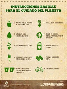 Instrucciones Básicas Para el Cuidado del Planeta