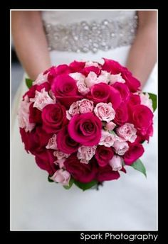 #pink bouquet - love this but with purple and white or silver :)