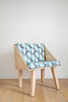 Chair in OSB by Desamble on Etsy