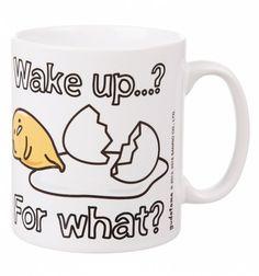 Gudetama Wake Up For What Mug