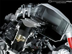 2015 Kawasaki Ninja H2 - Dual injector mesh intake system for fuel distribution and charge cooling.