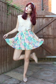 I luv the skirt ; its to cute!