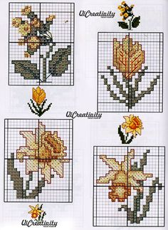 Mini Cross Stitch, Cross Stitch Cards, Cross Stitch Borders, Cross Stitch Flowers, Cross Stitching, Cross Stitch Embroidery, Cross Stitch Patterns, Easter Cross, Types Of Embroidery