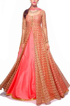 6Y Collective Indian Gowns Dresses, Pakistani Dresses, India Fashion, African Fashion, African Wear, Indian Attire, Indian Outfits, Frocks And Gowns, Long Gown Dress