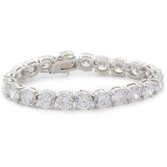 Kenneth Jay Lane CZ Bracelet (8,505 INR) ❤ liked on Polyvore featuring jewelry, bracelets, cubic zirconia bangles, cz tennis bracelet, kenneth jay lane jewelry, kenneth jay lane and polish jewelry