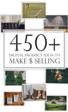 Looking for ideas to make money from home or to add extra revenue to your blog? Over 450 ideas for digital products you can create and sell for passive income. A great reference to pin for the future.