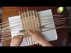 Простое плетение дна любой формы на шаблоне. - YouTube