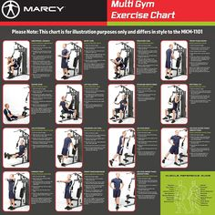 Correct Marcy Home Gym Workouts Off Marcy Diamond Elite Classic Multipurpose Home Gym Weight Machines, Weight Machine Workout, Cable Machine Workout, Workout Machines, Total Gym Exercise Chart, Gym Workout Chart, Gym Workout Tips, Work Out Routines Gym, Gym Routine