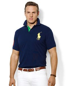 POLO RALPH LAUREN Big and Tall Classic Fit Big Pony Mesh Polo Shirt