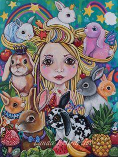 Lulu the Bunny Godmother - fine art print A3 by Frecklepop on Etsy