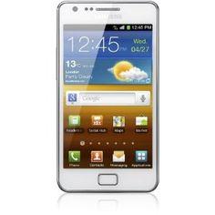 Samsung Galaxy S II i9100 DualCore Smartphone (10,9 cm (4,3 Zoll) Touchscreen Display, Android 2,3, 8 MP Full-HD Kamera, 2 MP Frontkamera) ceramic-white