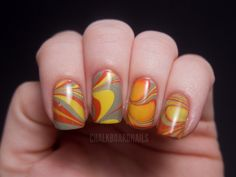 Water marble! It is amazing when u see how it make through the video. Will it be work on soak off gel?