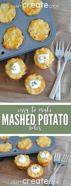 Mashed Potato Bites are a tasty way to use up leftover mashed potatoes! via @CraftCreatCook1