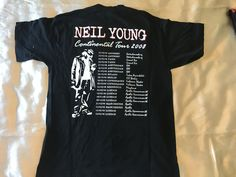Vintage Neil Young Continental tour 2008  T-shirt - rare!!!! | eBay