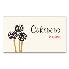 Personal chef simple black and white catering business card template catering pastry chef baking cakepops dessert cream business card reheart