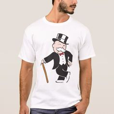 Rich Uncle Pennybags 3 T-Shirt - tap, personalize, buy right now! Funny Shirt Sayings, Shirts With Sayings, Funny Tshirts, Uncle Gifts, Vintage Tees, Vintage Art, American Apparel, Custom Shirts, Colorful Shirts