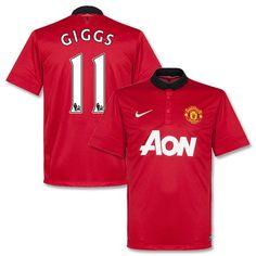 Camiseta del Manchester United 2013-2014 Local + Giggs 11