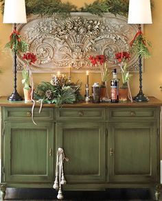 Green Furniture, Country Furniture, Distressed Furniture, Paint Furniture, Country Decor, Furniture Makeover, Buffet, Muebles Living, English Decor