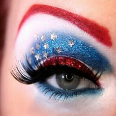 Cute independence day eye